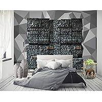 Xbwy カスタムL3Dキューブステレオ現代英数字幾何学的背景の壁紙リビングルームの壁絵画 - 250×175 Cm