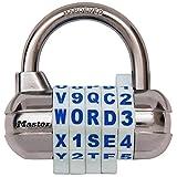 Master Lock 【正規輸入品】 ワード可変式南京錠 ホワイト 1534DWHT