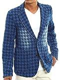 インプローブス テーラードジャケット カット デニム テーラード ジャケット メンズ ブルーチドリ Lサイズ