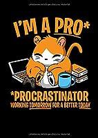 Notizbuch: Hamster Faul Procrastinate Witz Lustiges Geschenk 120 Seiten, A4, Karomuster, Kariert
