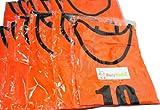 【BeryKoKo】 ビブス 1番 ~ 12番 12枚 セット サッカー フットサル ベスト オレンジ ネオンカラー 【正規品/30日間保証】