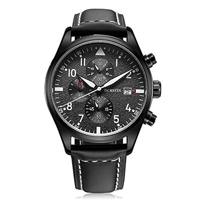 つかの間タンパク質構造的DeeploveUU 043B多機能発光男性腕時計クロノグラフ男性腕時計高級スポーツ腕時計男性時計クォーツ腕時計