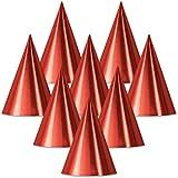 クラブパックof 48レッドFun and Festive Party Foil Cone Hats 6.75