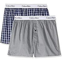 Calvin Klein Men's Modern Cotton Stretch Slim Fit Boxers (2 Pack)