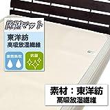東洋紡 洗える高吸放湿繊維使用 除湿マット シングル 90×180cm