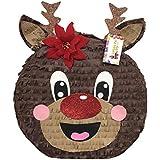 apinata4u Red Nose Reindeer PinataクリスマスパーティーFavor