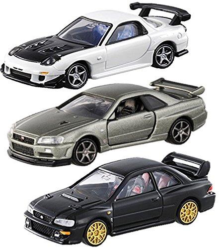 3台セット トミカ トミカプレミアムタカラトミーモール限定モデル3台 日産 スカイライン GT-R V-SPEC2 Nur + マツダ RX-7 FD3S RE雨宮仕様 + スバル インプレッサ 22b-STi