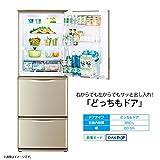 シャープ 冷蔵庫 350L(幅60cm) どっちもドア シルバー系 SJ-W351D-S