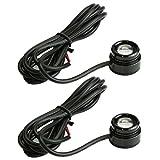 汎用 1.5W ハイパワー LED スポットライト 発光色 ピンク / 本体色 ブラック 2個セット