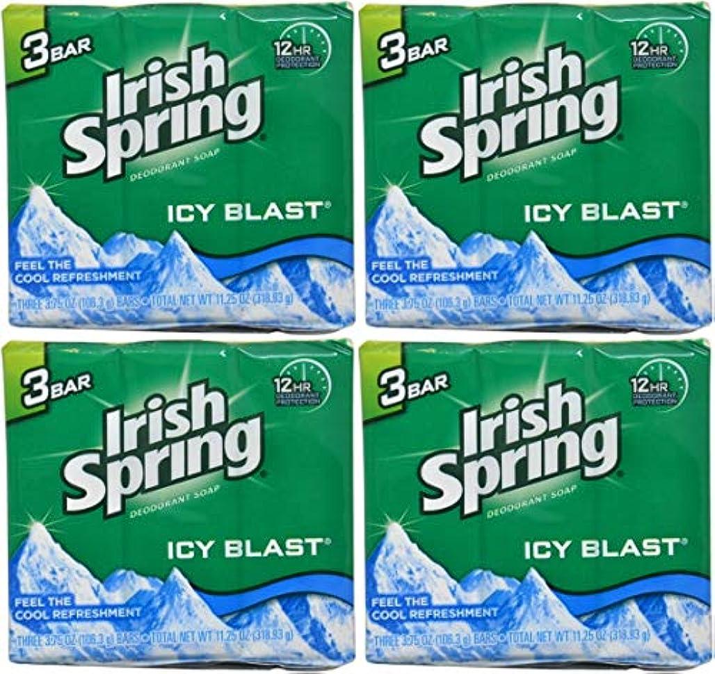 貧困三角形かなりIrish Spring バースバー、アイシーブラスト3.75オズ、3小節の12カウント4Pack