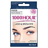 1000 Hour Eyelash & Brow Dye/Tint Kit Permanent Mascara (Blue Black)