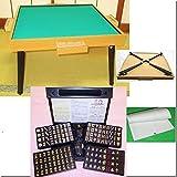 即納 ●スコア帳付 麻雀2点セット 麻雀卓(日本製)折りたたみ 麻雀牌 黒牌