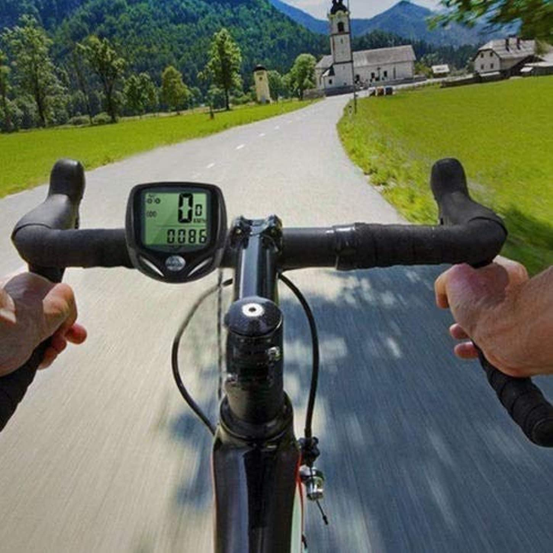 現れる要塞検証Blossom Store モダン 防水 ワイヤレス LCD デジタル サイクル バイク 自転車 コンピューター スピードメーター 走行距離計