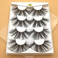 XLEIYI 4Pairs 3Dミンク毛つけまつげナチュラル/太いロング瞳のまつげ美容拡張ツールかすかなメイクアップ (Color : 6D09 4PAIRS)