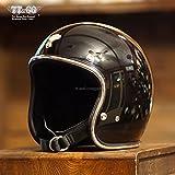 TT&CO. スーパーマグナム クロームトリム ブラック 乗車用 SG/PSC/DOT規格品 ジェットヘルメット