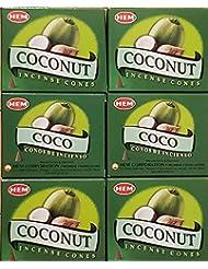 お香 コーン ココナッツ6箱入り 500円以上で送料無料