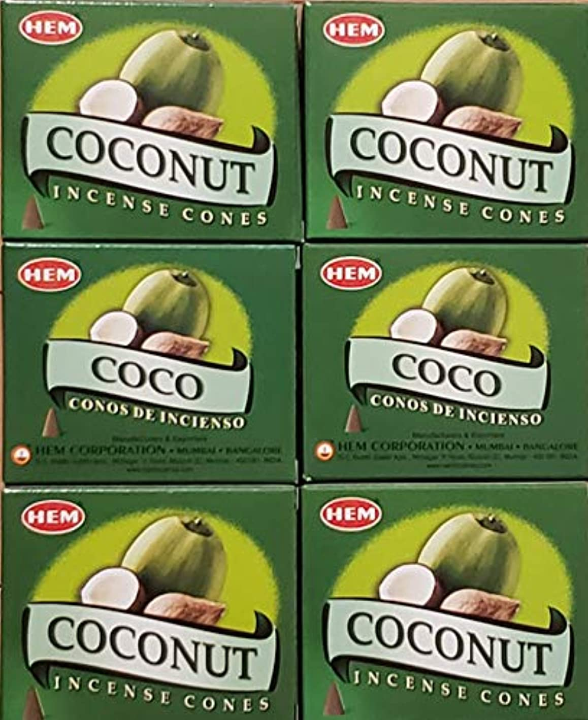 パン屋市の中心部教養があるお香 コーン ココナッツ6箱入り 500円以上で送料無料