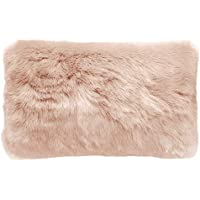 Bambury Faux Fur Cushion, Nude
