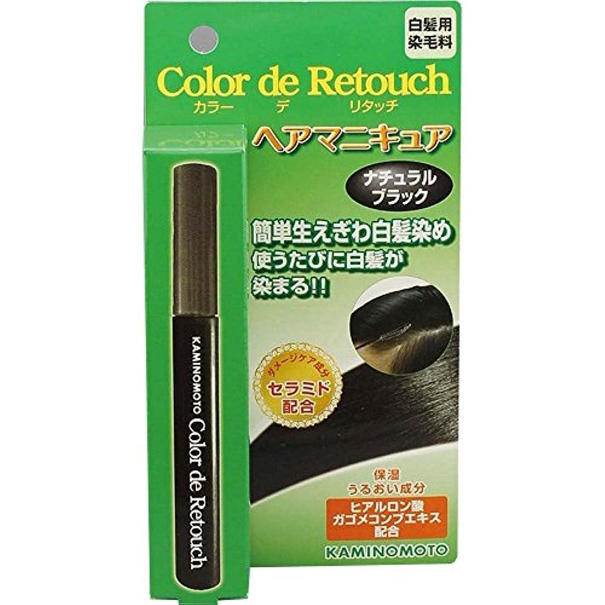 吸収絶妙贅沢な加美乃素 カラー デ リタッチ ナチュラルブラック 10mL×6個