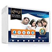 (Full XL) - Premium Box Spring Encasement Zippered Cover by CushyBeds - Bed Bug, Dust Mites & Allergy Proof - 100% Waterproof, Hypoallergenic, 6-Sided Protection - Full XL Size - (Fitted 18cm - 23cm Depth)
