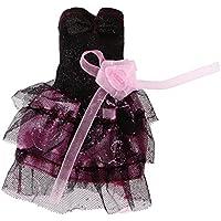 MagiDealブラックドレススカートClothes forバービー人形Kurhn人形Momoko Dolls Liv Dolls