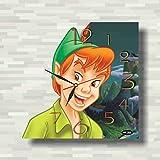 Peter Pan – Disney 11.8'' 壁時計(ピーター・パンウォルト・ディズニー・カンパニー )あなたの友人のための最高の贈り物。あなたの家のためのオリジナルデザイン
