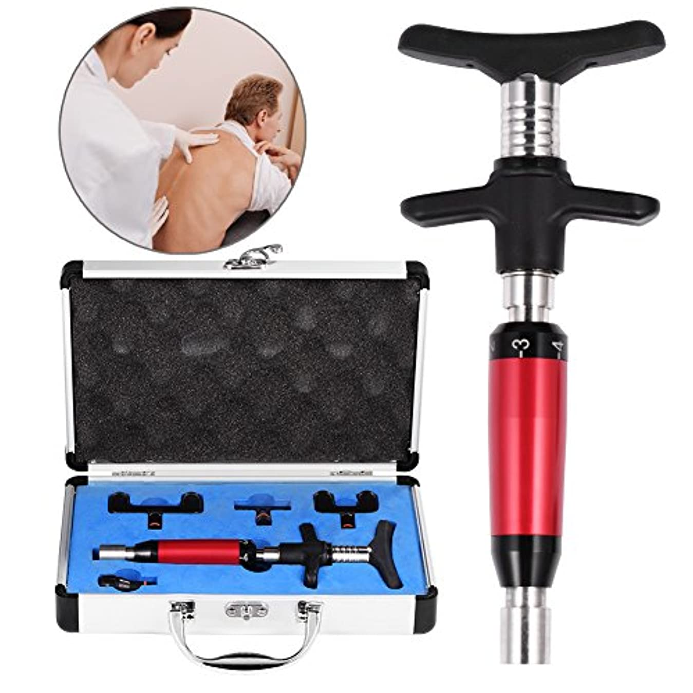 センチメートル窒息させる再生可能6レベル手動ヘッドスパインマッサージャー、背骨調整キット、背骨と胸郭の調整のための背骨マッサージ、ポータブル