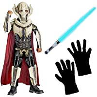 STAR WARS / General Grievous Deluxe Child Costume withライトセーバーand Gloves , ( S )
