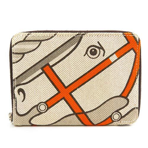 [エルメス]スティープルPM 二つ折り財布(小銭入れあり) キャンバス レディース (中古)