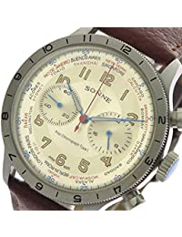 ゾンネ SONNE 腕時計 メンズ HI003IVBR クォーツ シャンパンゴールド ブラウン [並行輸入品]