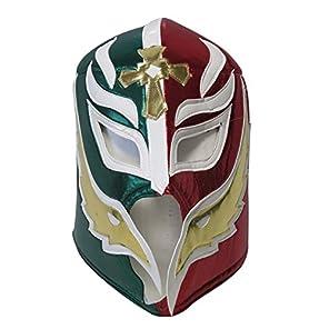 【プロレス マスク】小さな巨人 レイ・ミステリオ 応援用ソフトマスク byアレナメヒコ 緑赤ハーフ ルチャリブレ プロレス