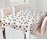 北欧 風 テーブル クロス エレガント防水 加工 137×180cm 3種類 (ドット)