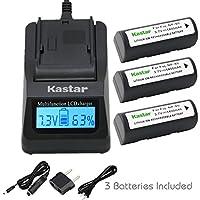 Kastar超高速充電器( 3x Faster )キットとバッテリ( 3- Pack ) for Fujifilm NP - 80、klic-3000Work with Fujifilm FinePix 1700z、2700、2900z、ズームズーム、ズーム、4800490068006900、ズーム、mx-1700、mx-1700z、mx-2700、mx-2900、mx-2900z、mx-4800、mx-4900、mx-6800、mx-6900、Kodak dc4800、京セラMICROELITE 3300など、カメラ[ over 3x通常より高速充電器ポータブルUSB充電機能を]