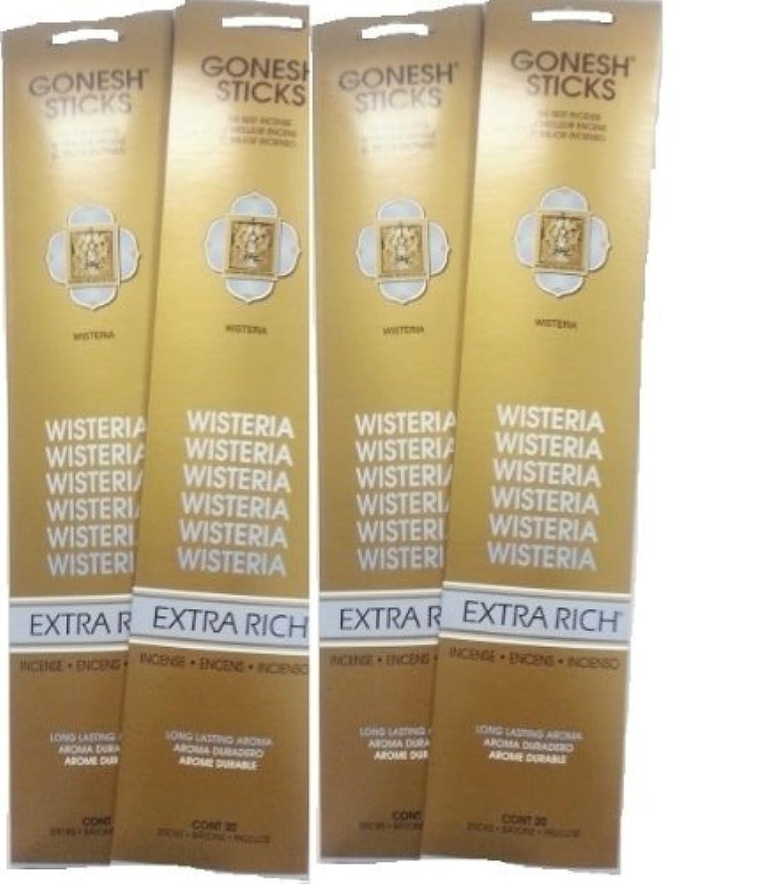 減るきれいにカエルGonesh Incense Sticks - Wisteria lot of 4 by Gonesh