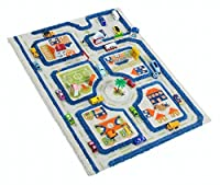IVI Traffic 3D Play Rugs, Blue, Small [並行輸入品]