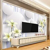 Xbwy カスタム3D Steceroscopic壁紙Creativo現代のミニマリスト花壁紙研究室の背景壁画壁画壁装材用壁-250X175Cm