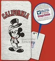 グルマンディーズ ディズニー iPhone6対応 スウェットフリップケース タキシードミッキー DN-277A