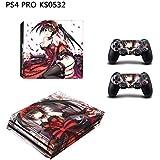 PS4 pro スキンシール イツモショッピング 新型プレイステーション4対応 本体とコントローラー 対応用 スキンシール 保護ステッカー キズ/傷/汚れから守る