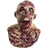 (Muu3) 骸骨 ゾンビ フェイスマスク 仮面 ホラー リアル ハロウィン 仮装 コスプレ 変装 (骸骨ゾンビ)
