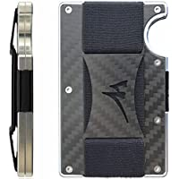 Martrams Carbon Fiber Credit Card Holder RFID Blocking Money Clip Wallet