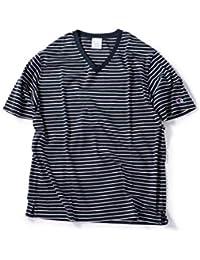 [シップス] Champion チャンピオン Tシャツ ボーダー Vネック TEE メンズ 112115093
