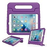 EVA素材 iPad Mini 4 ケース, LEFON 児童 最軽量 耐衝撃 超耐久性 Apple iPadシリーズ 保護 ケース Apple iPad Mini 1/2/3, iPad Mini 4 に適します (For Apple iPad Mini 4(2015), パープル)
