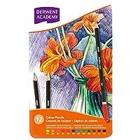 ダーウェント アカデミー 色鉛筆 カラーペンシル メタルケース 12色セット 2301937