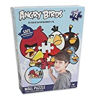 Angry Birds 72Piece Wall Puzzle 24X 36インチ(セーフfor Painted壁)