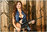 Ana Cheri W / ar15?GiantポスターPinup Girl with Gun
