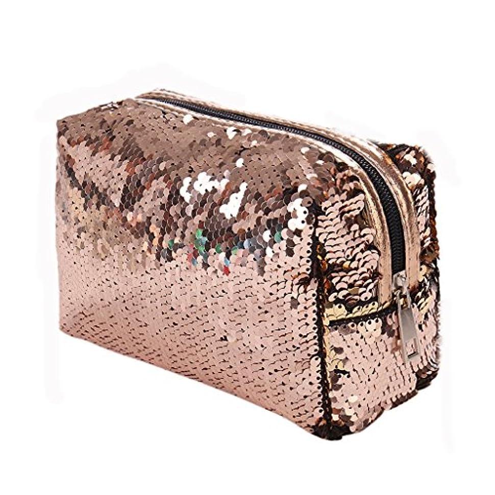 鉄道駅戦略キャプテンSimpleLife女性キラキラ化粧品バッグスパンコール化粧品ケースペン鉛筆バッグジッパーコインポーチ財布用女の子女性財布トイレタリーバッグ
