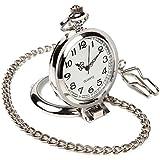 【クロノシア】懐中時計 アンティーク シンプル インテリア 縦置き可能 クォーツ 電池式
