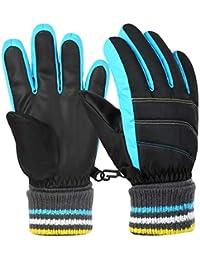 VBGIER子供 手袋 スキーグローブ キッズ手袋 滑り止め 保温 裏起毛 防寒防風 スポーツ耐磨耗性 通学
