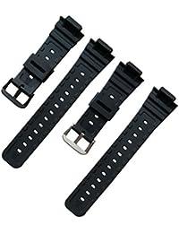 時計バンド 交換ベルト 腕時計ベルト 16mm 防水 CASIO G-shock GW-M5610 DW-5600/5700/6900用 バンド (ブラック)