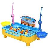 ATETION 釣りおもちゃ 魚釣りゲーム 魚釣り楽園 マグネット式 フィッシング 音楽を聞きながら魚捕り 楽しいお魚釣り 水遊び 釣り遊び 子供 知育玩具 電動 おもちゃ お子様 プレゼントに対応